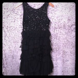 MM Couture by MISS ME sequin tulle Dress M sequin